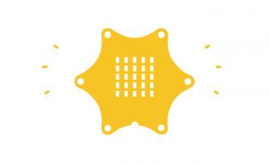Žltá grafika Calliope mini